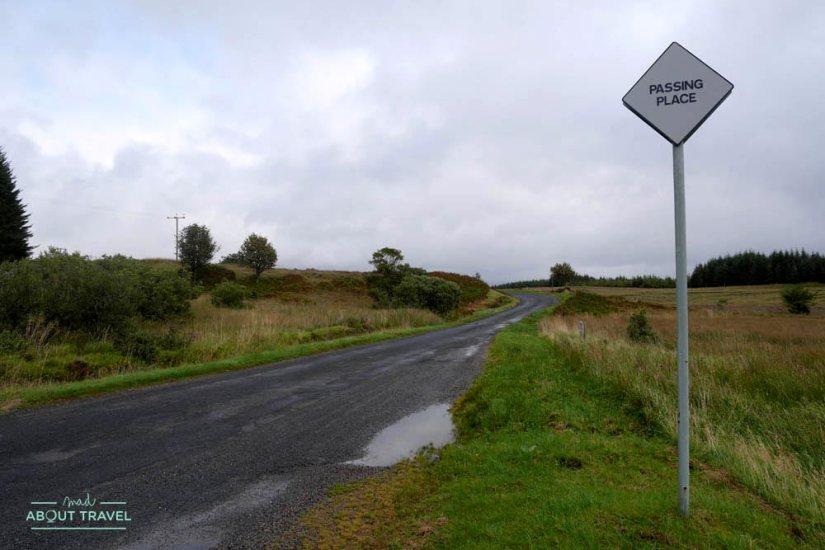 conducir por la izquierda en escocia - isla de mull
