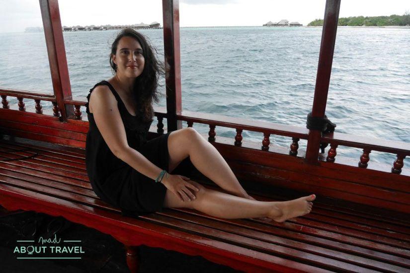 crucero al atardecer en el resort coco bodu hithi de maldivas