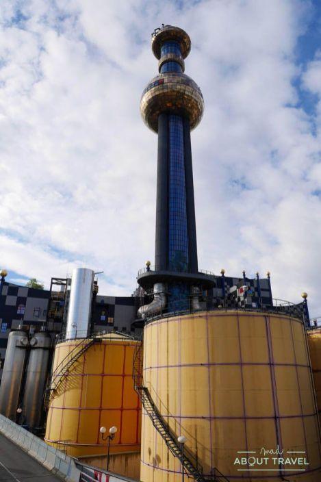planta incineradora de hundertwasser en viena