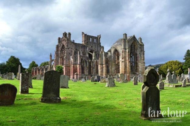 qué ver en escocia: abadía de melrose