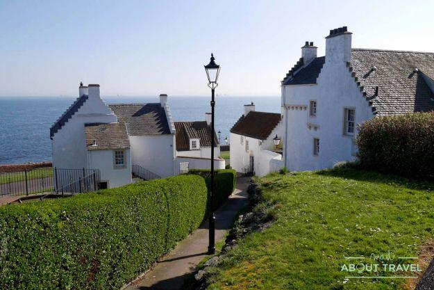 casas de pescadores en Dysart, Fife, Escocia