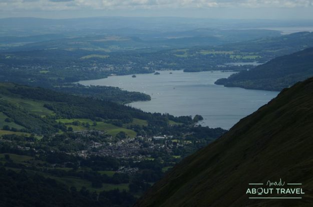 vistas del lago windermere en el lake district inglaterra
