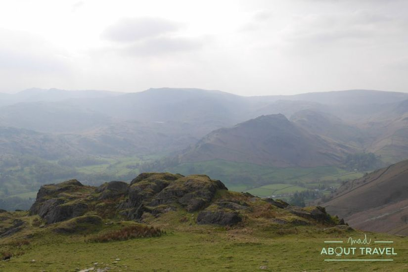 ruta senderista fairfield horseshoe en grasmere, lake district