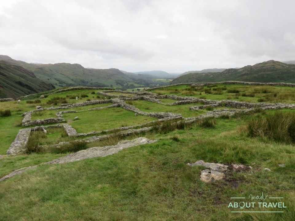 fuerte romano de hardknott, lake district inglaterra