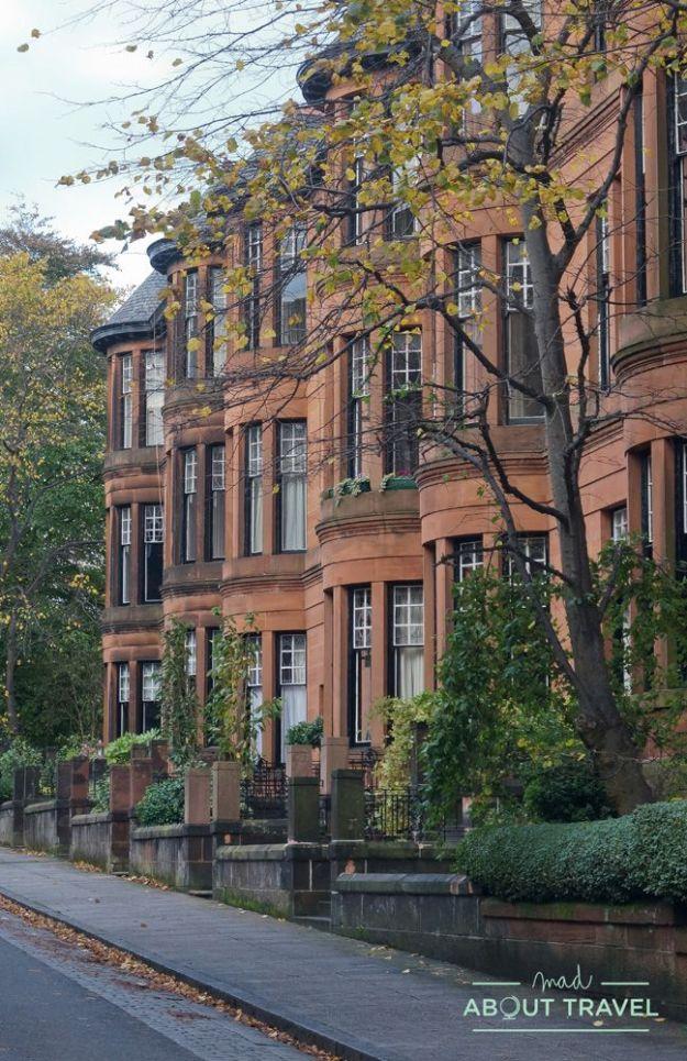 localizaciones de Outlander en Glasgow: west end / boston