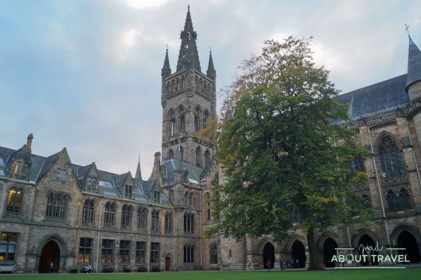 localizaciones de Outlander en Glasgow: universidad de glasgow