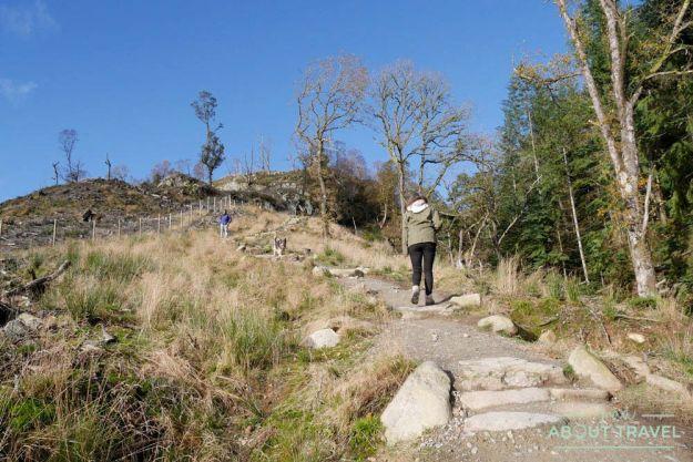 ruta senderista ben a'an trossachs escocia