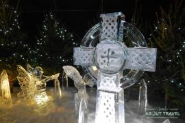 que hacer en Edimburgo en Navidad: esculturas de hielo