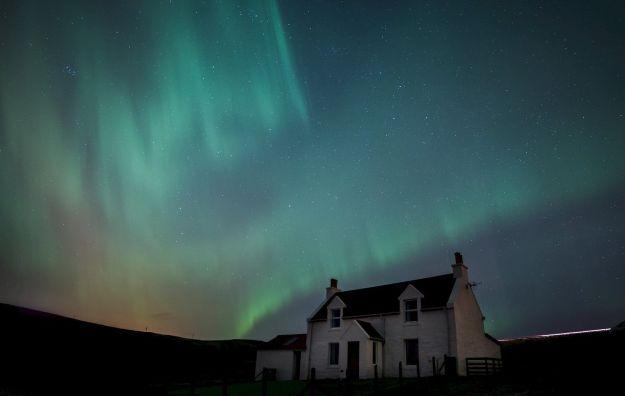 Aurora boreal en Shetland - foto de David Gifford / Shetland.org
