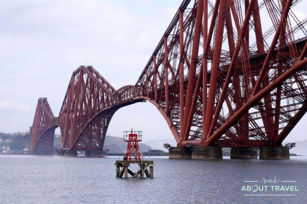 puente forth rail bridge sobre el firth of forth desde south queensferry