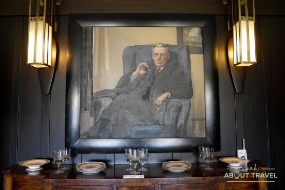 Retrato de Walter Blackie en la HIll House de Mackintosh, Escocia