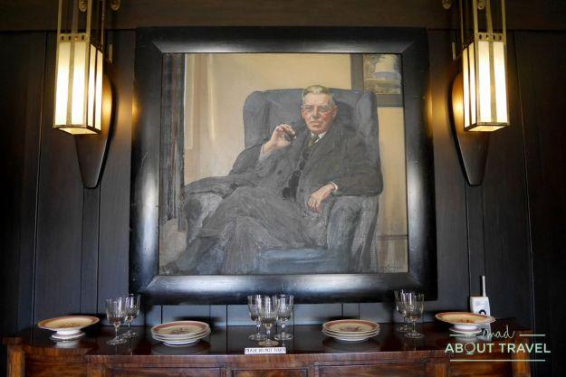 Retrato de Walter Blackie en la HIll House de Mackintosh, Escocia