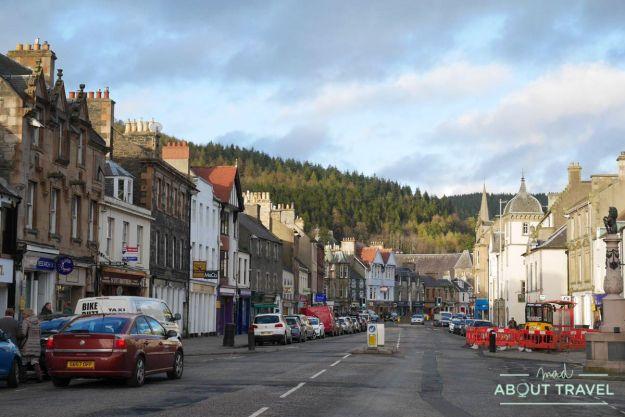Pueblo de Peebles, Borders de Escocia