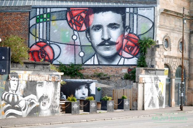 mural de mackintosh en glasgow