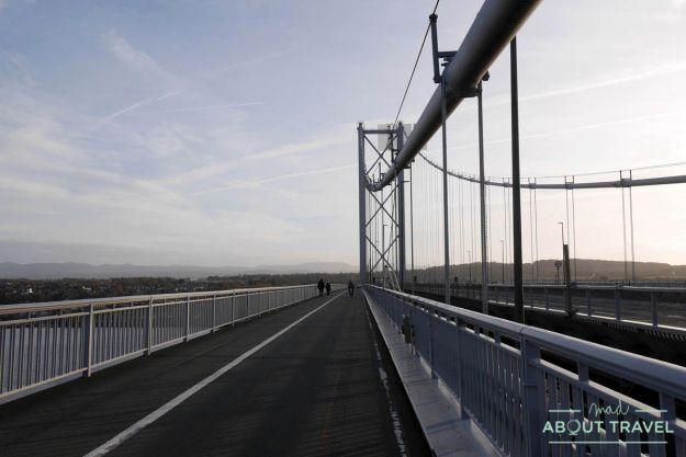 ruta en bicicleta desde edimburgo: forth road bridge