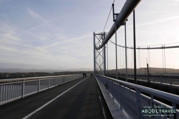 ruta en bicicleta desde edimburgo: forth road bridge