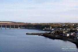 ruta en bicicleta desde Edimburgo: puente forth