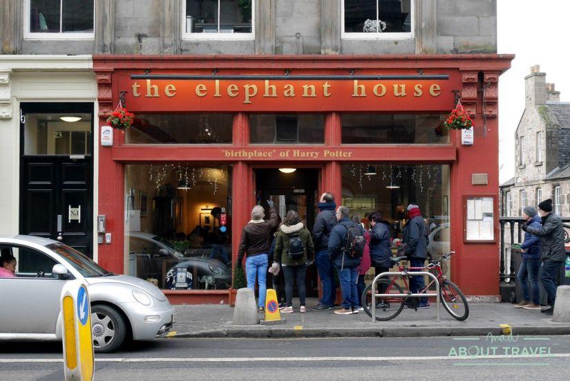ruta de Harry Potter en Edimbugo: The Elephant House