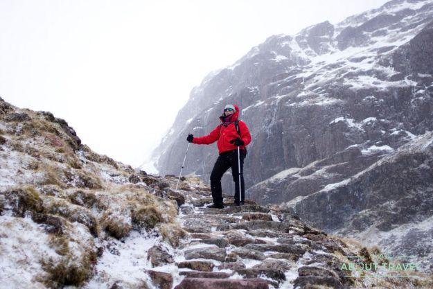 ruta senderista al Lost Valley de Glencoe