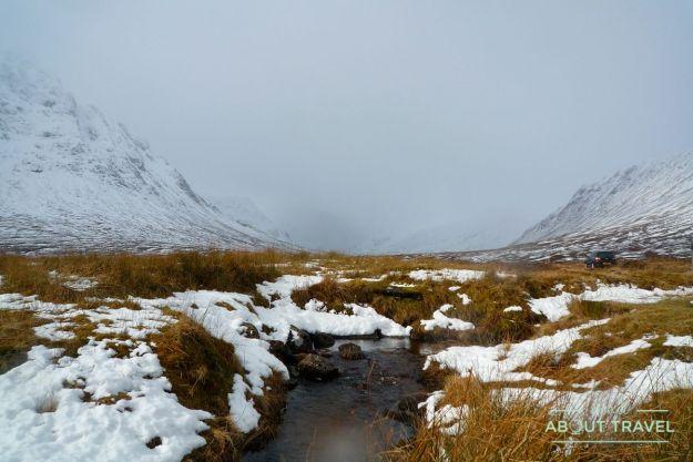 que ver en Glencoe: nieve