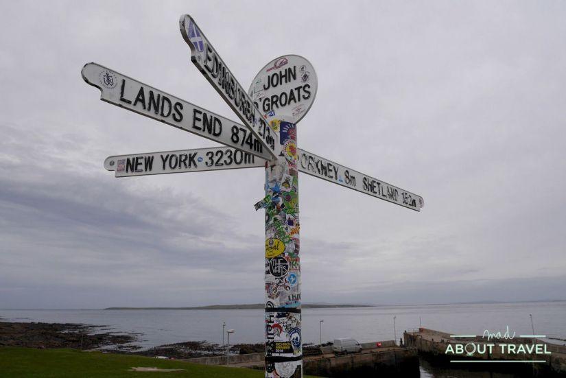 Señal en John o'Groats, Escocia