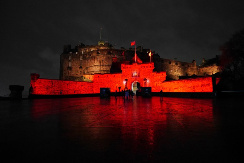 Castle of Light en el castillo de Edimburgo