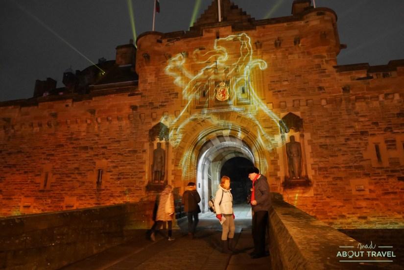 Castle of Light en el castillo de Edimburgo