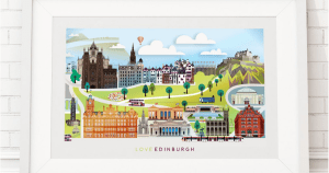 Ilustración de Glasgow de Love That View
