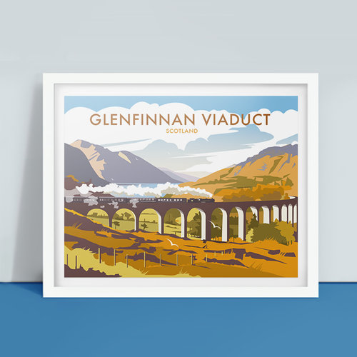 Ilustración del viaducto de Glenfinnan de Dave Thompson Illustration
