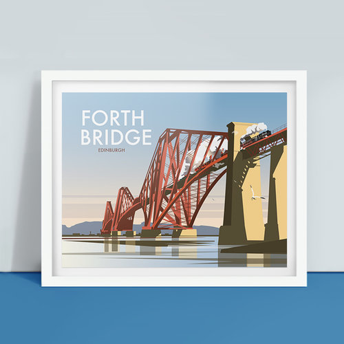 Ilustración del Forth Rail Bridge, de Dave Thompson Illustration