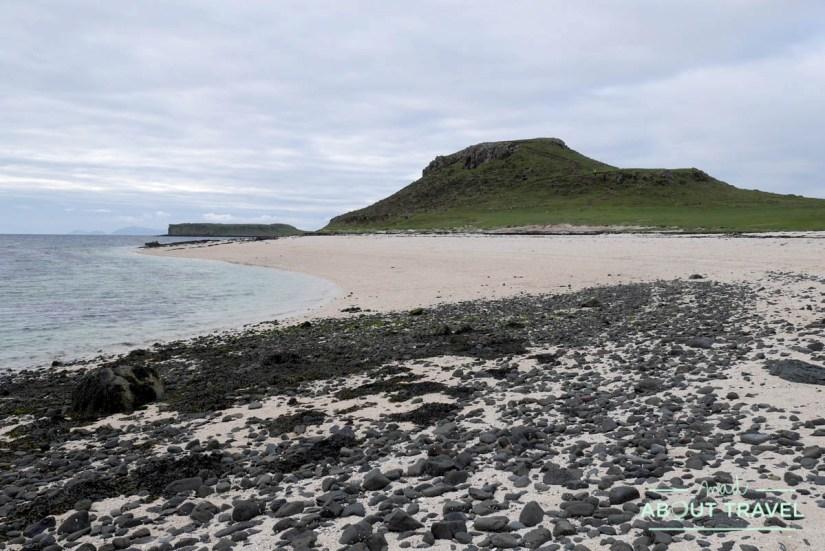 playa de claigan coral beach en la isla de skye