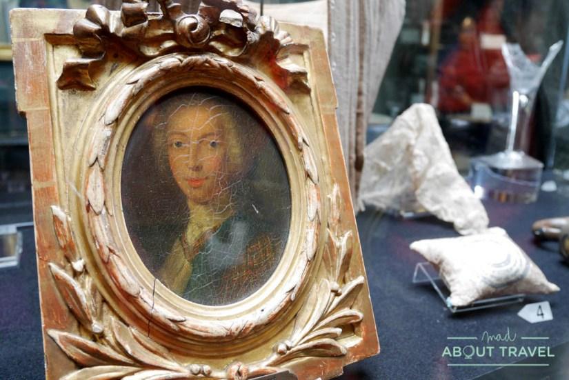 Retrato de Bonnie Prince Charlie en el castillo de Dunvegan
