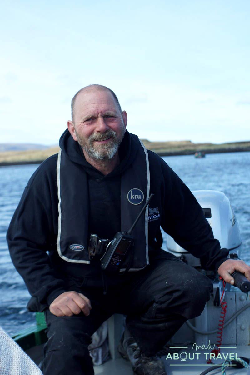 Uno de los responsables que te llevan a ver focas en la bahía de Dunvegan