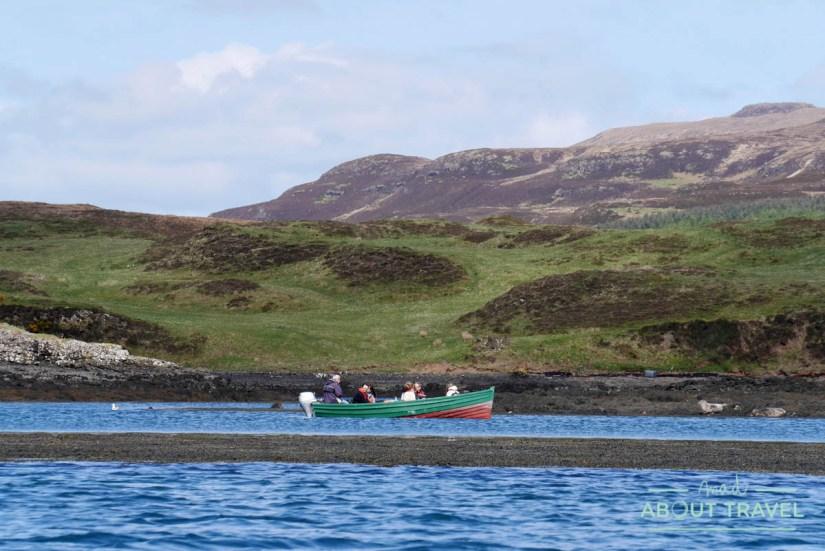 Una barca en el Loch Dunvegan