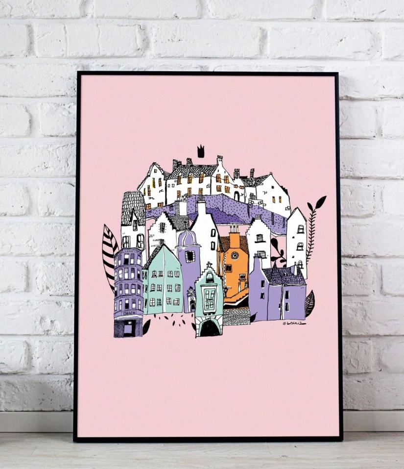 ILustración de Edimburgo de PIlar García de Leániz
