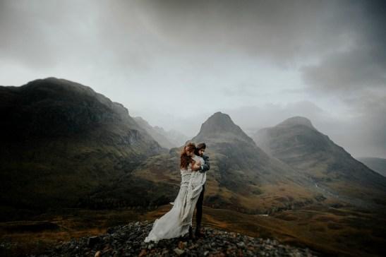 Sesión de fotografía de boda en Glencoe