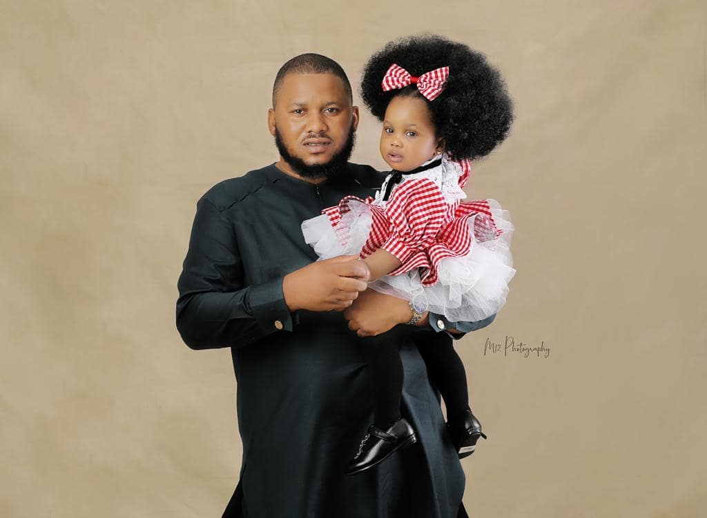 Ronke Odusanya Baby Daddy and daughter