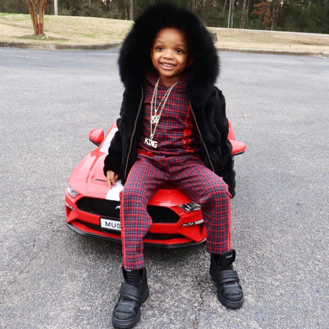 Wizkid's Son, King Ayo Jnr