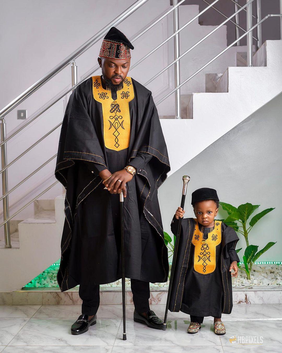 Toyin Abraham's Husband, Kolawole Ajeyemi and Son Ire