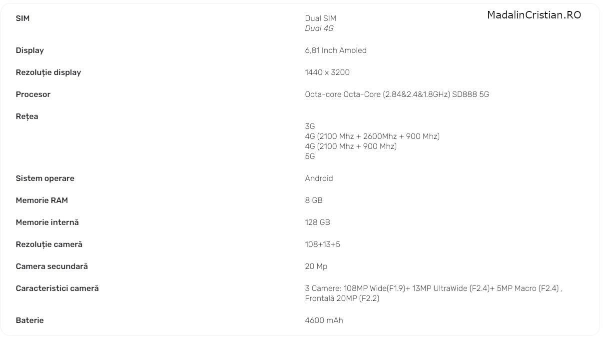 Xiaomi Mi 11 5G VoLTE DIGI.Mobil specs