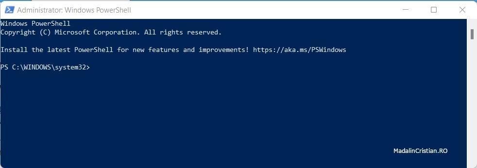 Administrator Windows PowerShell