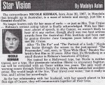 Celebrity Prediction: Nicole Kidman