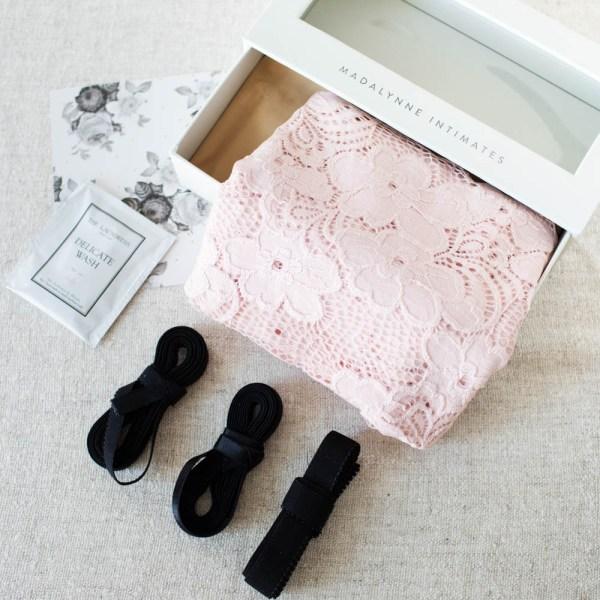 diy blush pink lace sewing kit