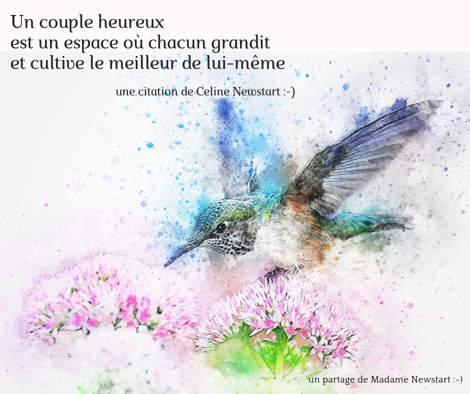 Poster citation amour couple de Madame Newstart