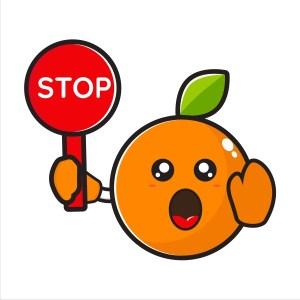 Stop au jus d'orange