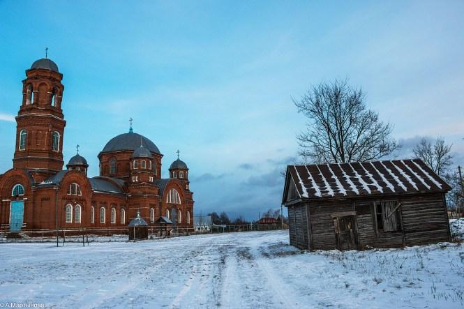 церковь воскресения словущего, церковь моршанский район, церковь в селе серповое, воскресенская церковь