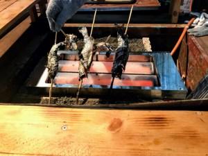 群馬県の国際ます釣りセンター 遠赤外線コンロ