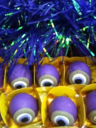 festa minions, bombom do Vinicius