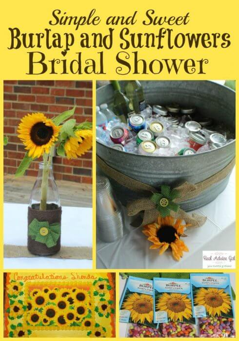 Favors Sunflower Wedding Shower