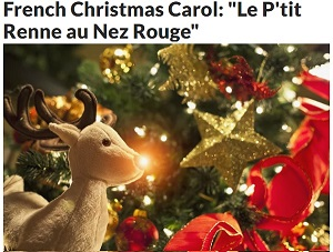 Top 50 French Verbs Part 1 , culture note article, rudolph the red nosed reindeer French lyrics